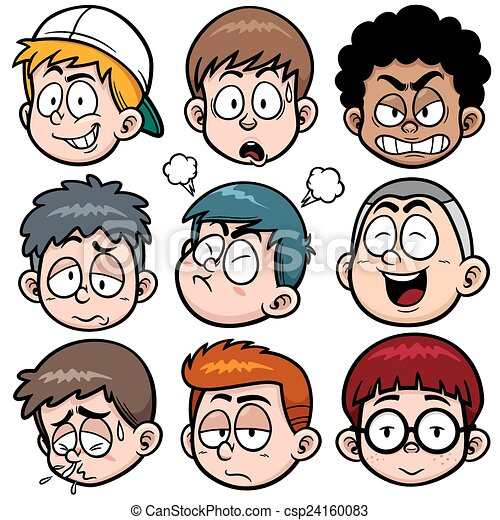 Boy face - csp24160083