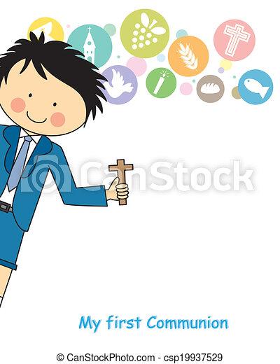 Boy first Communion - csp19937529