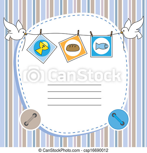 boy first communion invitation card