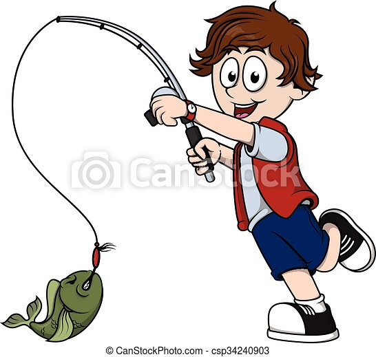 boy fishing vector clipart search illustration drawings and eps rh canstockphoto com boy and girl fishing clipart boy fishing clipart black and white
