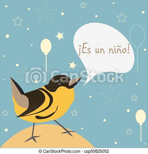 Boy Garcon Announcement Moyens Nino Arrivee Language It S Onu Mignon Naissance Espagnol Bebe Es Announces