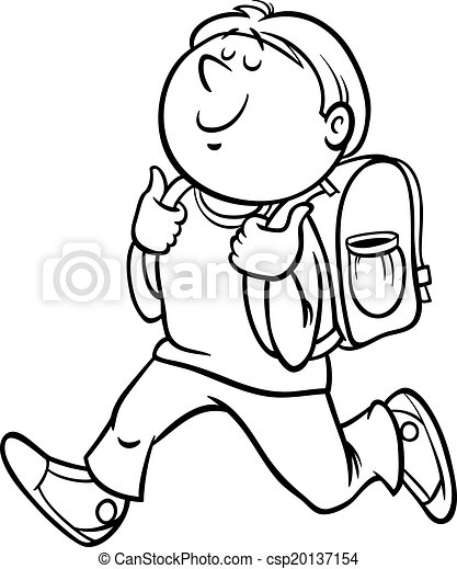 boy grade student coloring page - csp20137154