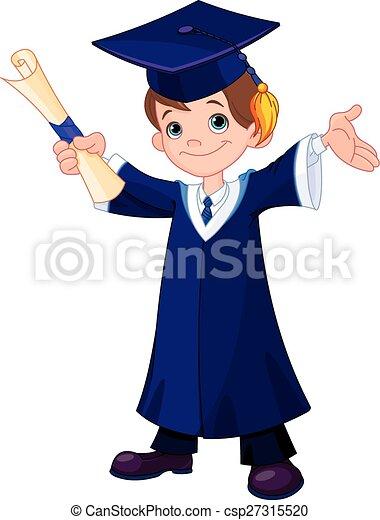 Boy Graduates  - csp27315520