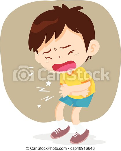 boy have stomach ache boy having stomach ache  cartoon Sweating Sun Chest Pain Clip Art