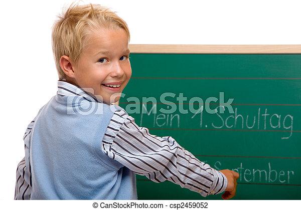 Boy having his first schoolday - csp2459052
