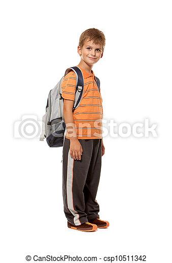 Boy holding books. Back to school - csp10511342