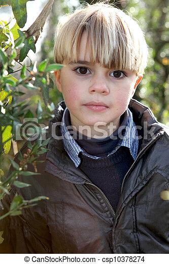 Boy in a garden - csp10378274