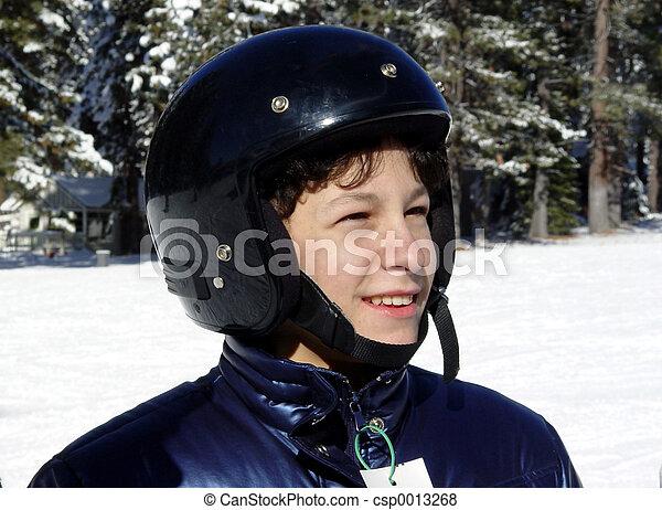 Boy in a helmet - csp0013268