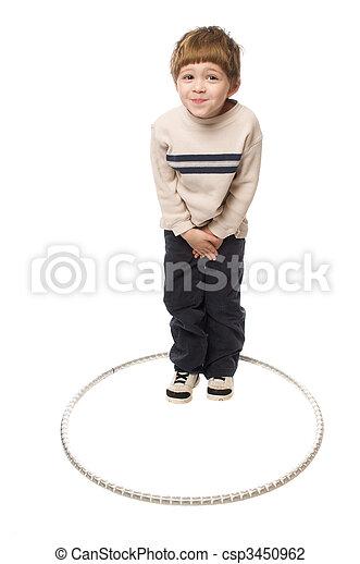 boy in a hoop - csp3450962