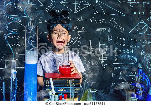 boy in a laboratory - csp51157541