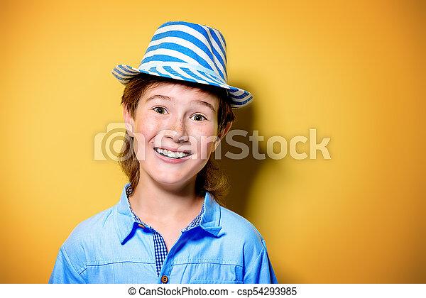 boy in hat - csp54293985