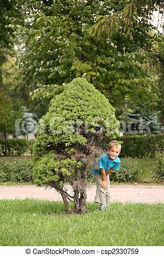 boy in park - csp2330759