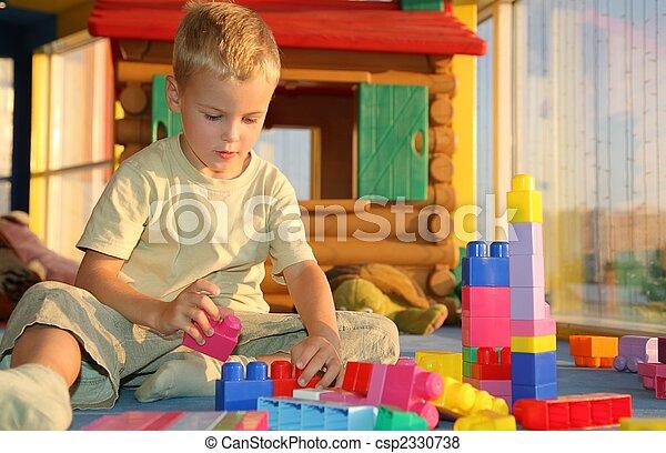 boy in playroom - csp2330738