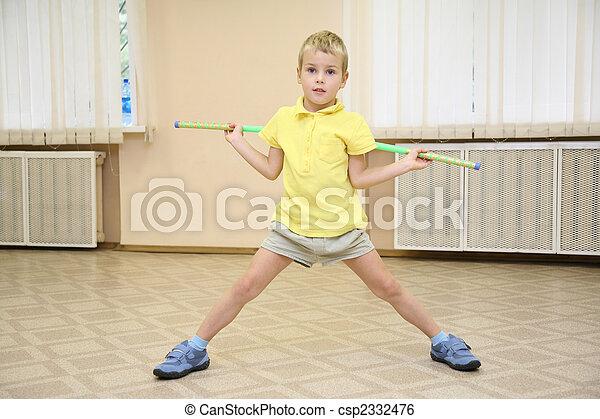 boy in sporthall - csp2332476