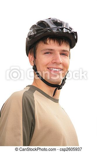 Boy in sports helmet - csp2605937