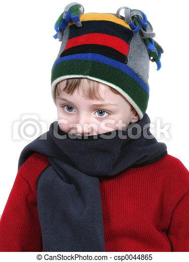 Boy In Winter Attire - csp0044865
