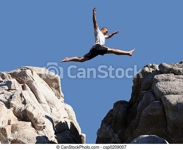 Boy jumping - csp0209007
