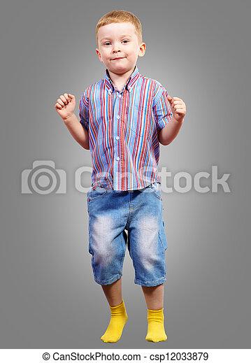 boy jumping - csp12033879