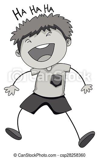 Boy laughing - csp28258360