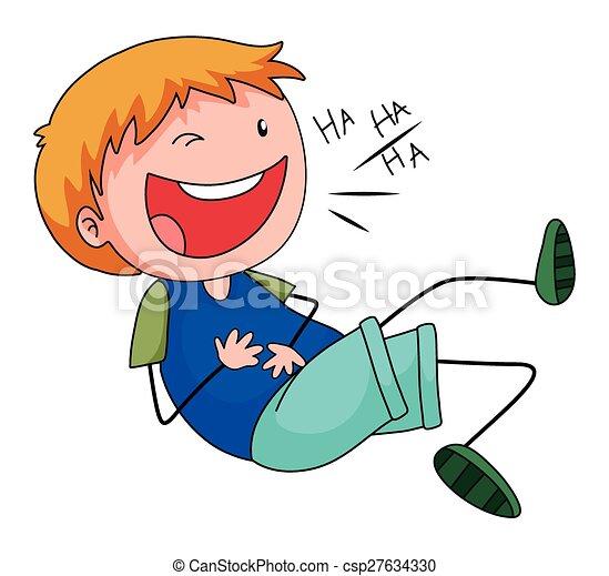Boy laughing - csp27634330
