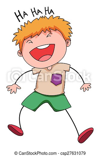 Boy laughing - csp27631079