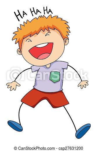 Boy laughing - csp27631200