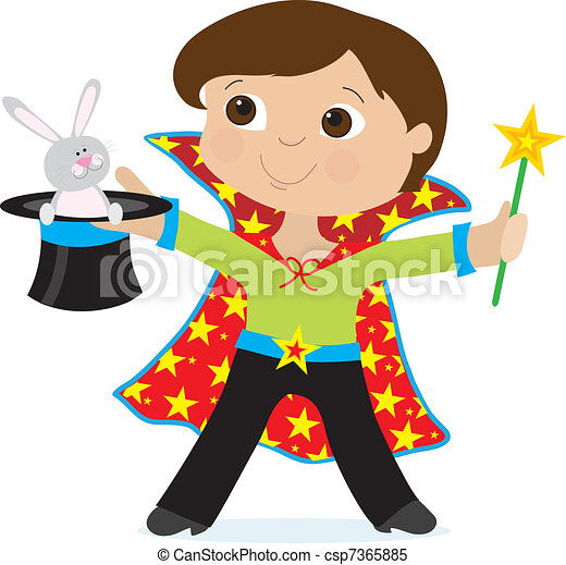 boy magician a young boy dressed as a magician is holding a rh canstockphoto com girl magician clipart magician clipart png