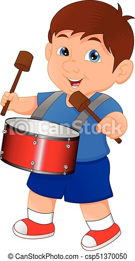 vector illustration of boy marching with a drum clipart vector rh canstockphoto com drum images clipart drum clipart silhouette