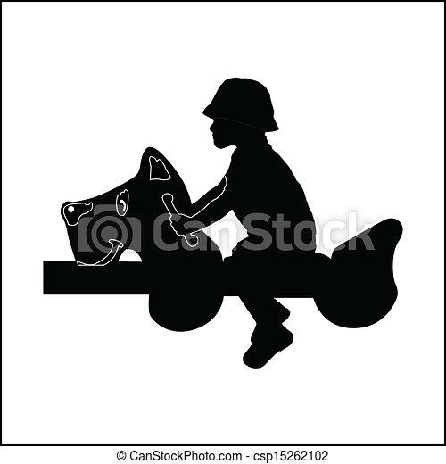 boy on a seesaw - csp15262102