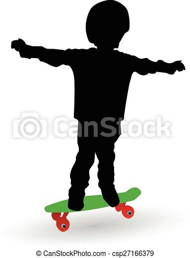 boy on a skate board - csp27166379