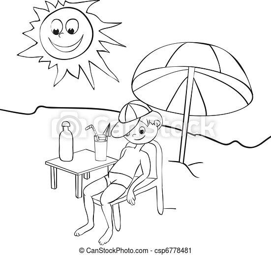 boy on beach - csp6778481