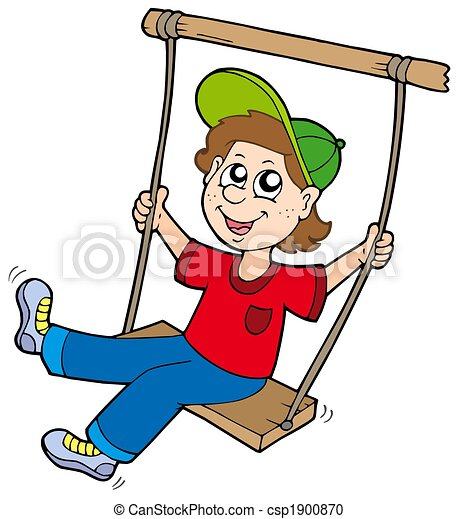 boy on swing isolated illustration stock illustration search rh canstockphoto com sewing clip art free sewing clip art images