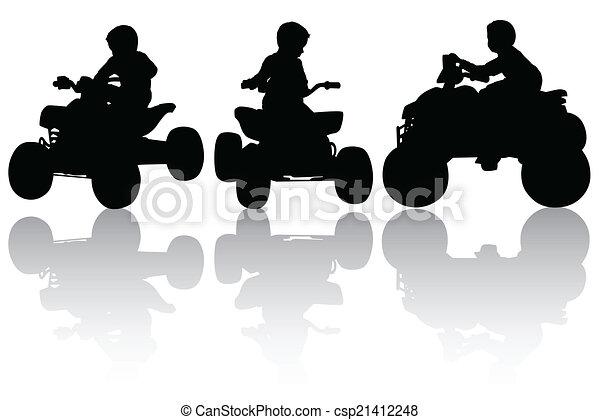 Boy on the quadbike - csp21412248
