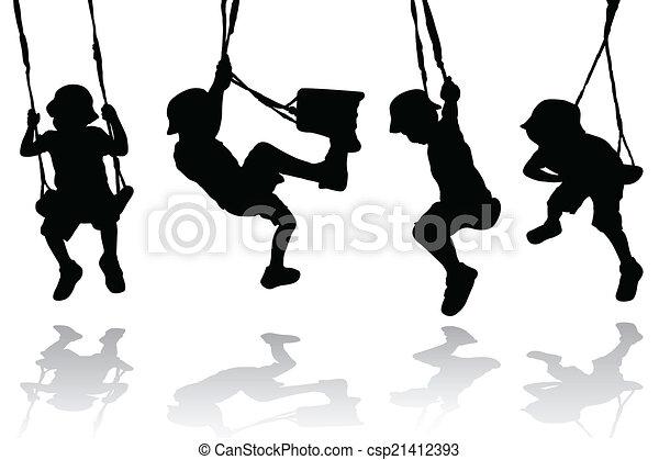 Boy on the swing - csp21412393