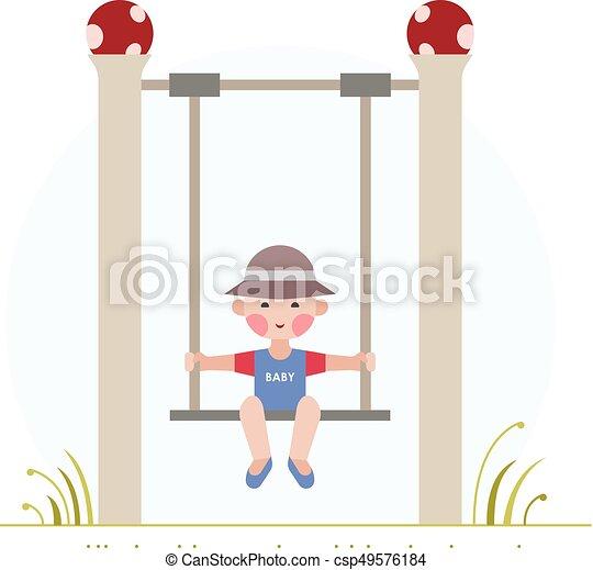 Boy on the swing - csp49576184
