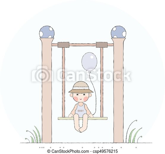 Boy on the swing - csp49576215
