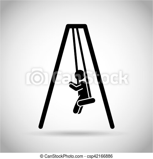 boy on the swings - csp42166886