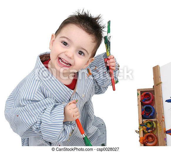 Boy Painting - csp0028027