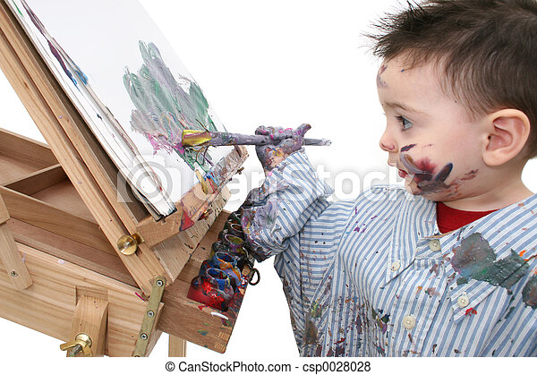 Boy Painting - csp0028028