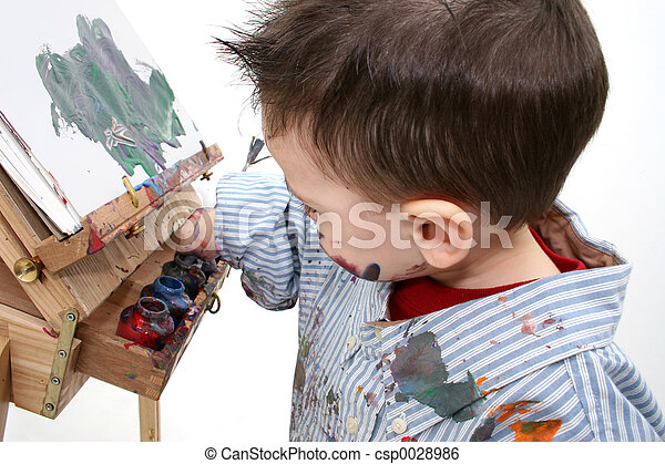 Boy Painting - csp0028986