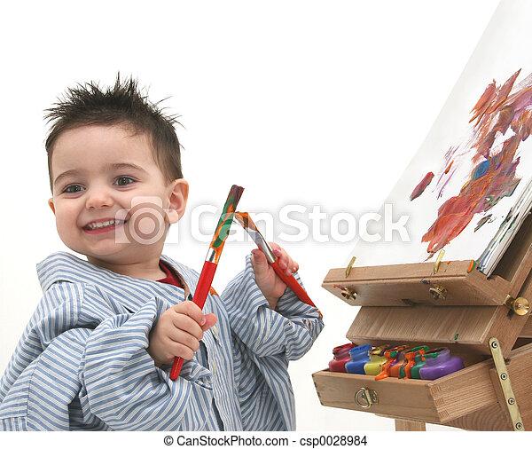 Boy Painting - csp0028984