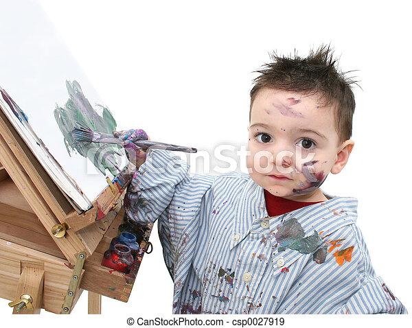 Boy Painting - csp0027919