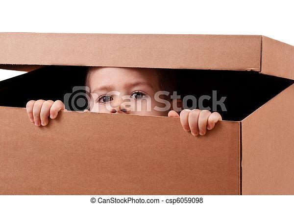 Boy peeping - csp6059098