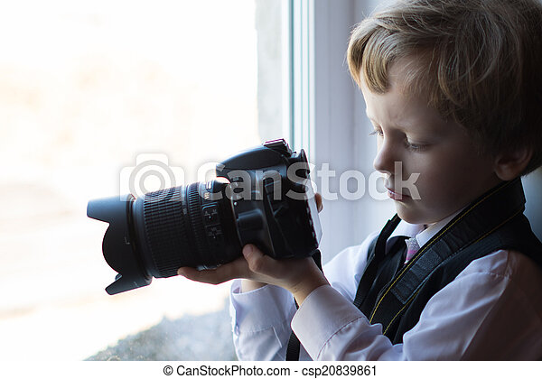 Boy photographer - csp20839861