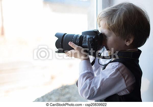 Boy photographer - csp20839922