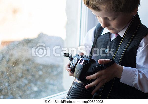 Boy photographer - csp20839908