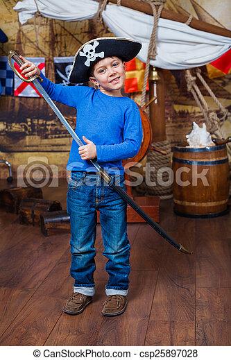 Boy pirate - csp25897028