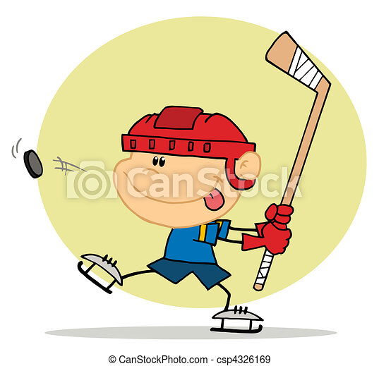 Boy Playing Hockey - csp4326169