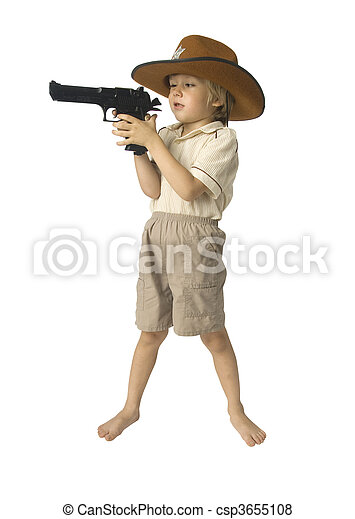 Boy playing sheriff - csp3655108