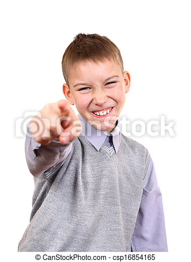 Boy Pointing at You - csp16854165